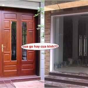 so sánh ưu nhược điểm cửa gỗ cửa sắt cửa nhôm kính