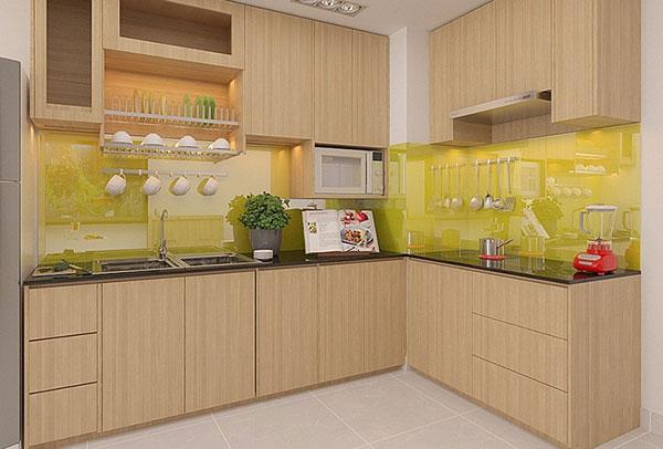 tủ bếp gỗ kính hải phòng