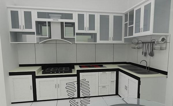 tủ bếp kính hải phòng
